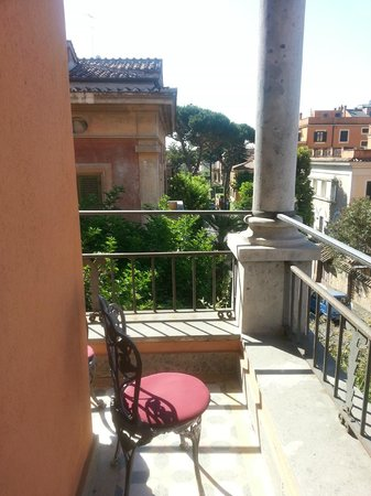 Hotel Aventino: view from the balcony