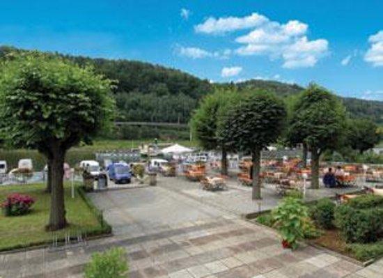 Elbhotel Bad Schandau: Gartenterrasse