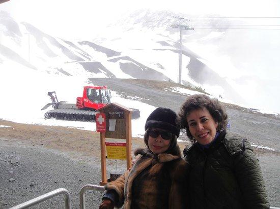 Alyeska Hostel: Hasta arriba de la montaña