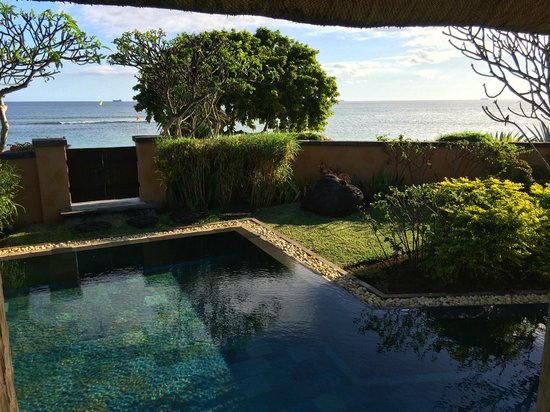 The Oberoi, Mauritius: view from pool 205