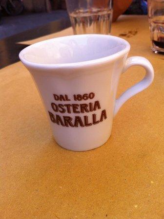 Osteria Baralla : E x finire un buon caffe'!!!