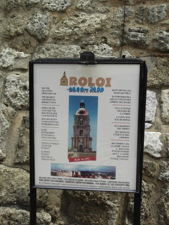 Roloi Clock Tower : sign
