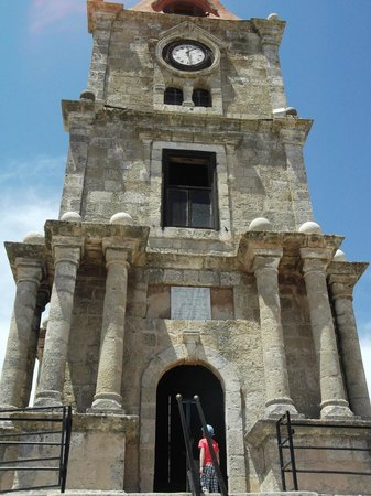 sign - Picture of Roloi Clock Tower, Rhodes Town - TripAdvisor