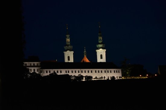 Hotel U Zeleneho hroznu (Hotel At the Green Grape): Abbey view from the room in the roof