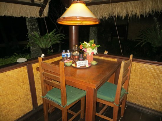 Alam Anda Ocean Front Resort & Spa: Unsere Terrasse