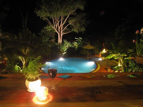 Kep Lodge Restaurant: A glas of wine and just enjoy the view
