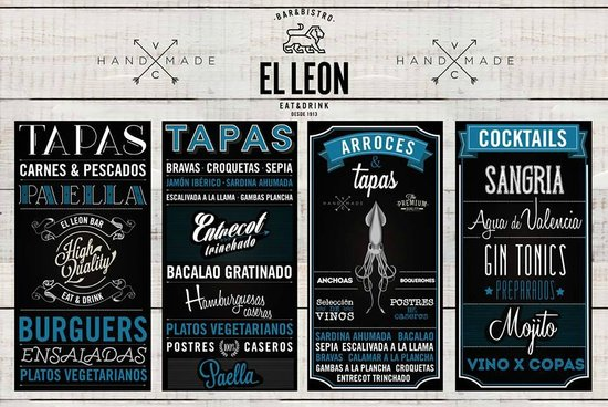 Foto de el leon valencia pizarras tripadvisor - Pizarras de bar ...