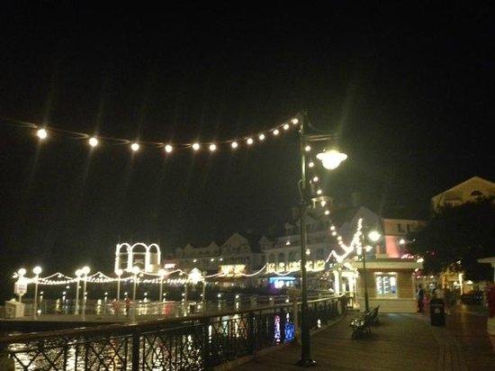 Disney's BoardWalk Villas: Boardwalk at night