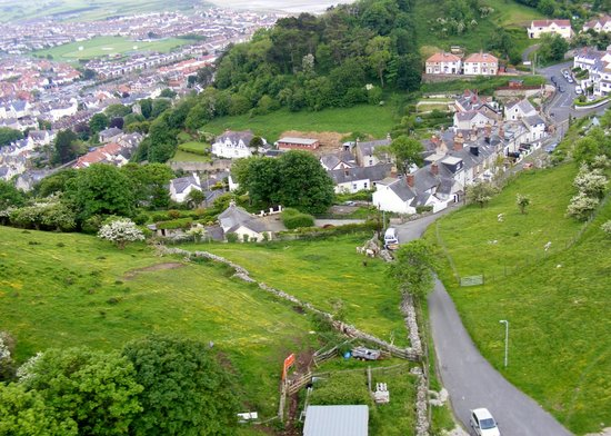 Great Orme Cable Cars: Looking over houses on the Great Orme