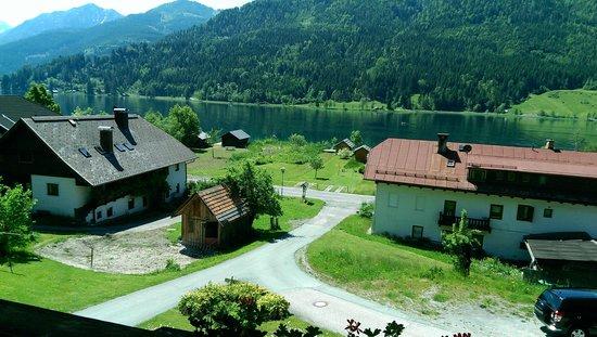 Pension Untergasser: balcone vista lago