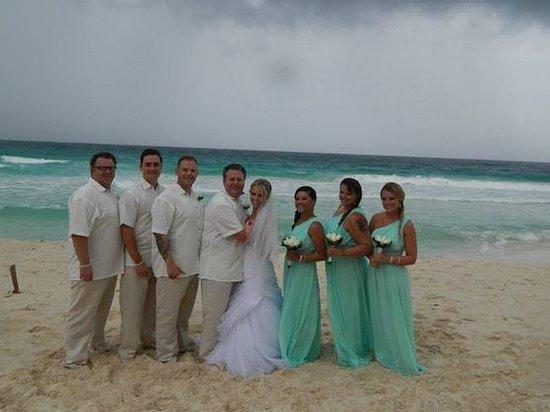 Beach area at Sun Palace- Bridal party