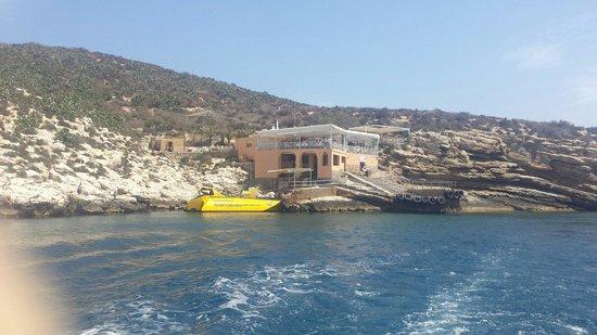 Isla de Benidorm (L'illa de Benidorm): View from back of boat