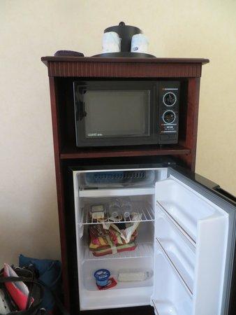 Hampton Inn & Suites Dayton-Airport : mini fridge
