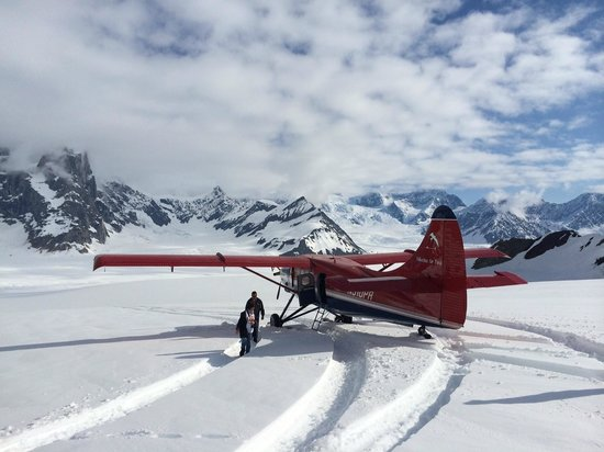 Talkeetna Air Taxi : Glacier landing