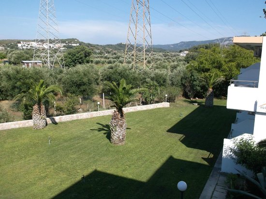 Meliton Hotel: View from room 28