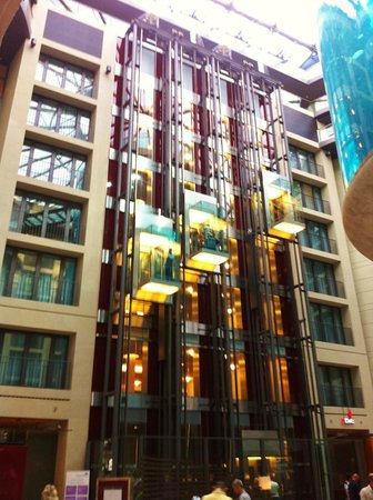 Radisson Blu Hotel, Berlin : View from the lobby