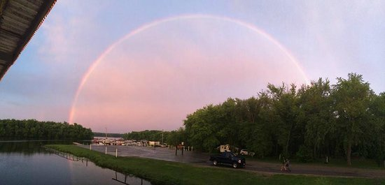 River Bay Campground & Marina : Rainbow over River Bay