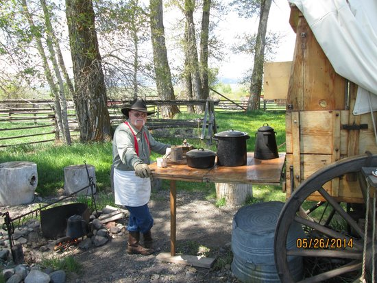 """Grant-Kohrs Ranch - National Historic Site : An authentic chuckwagon - and some """"cowboy coffee"""" that will put hair on your chest!"""