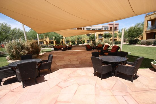 "Marriott's Canyon Villas: Relaxation Area with ""misters"""