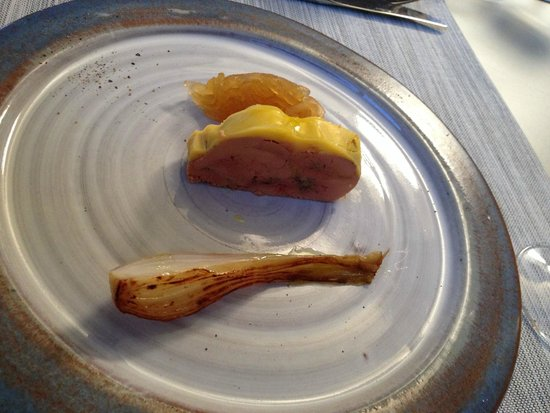 Auberge du Cellier: Foie gras mi cuit purée de pomme, un régal
