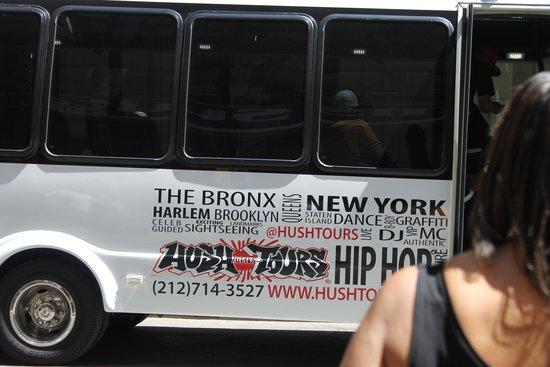 Hush Hip Hop Tours : Side of the tour bus.