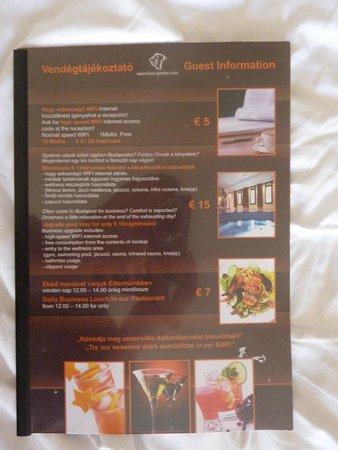 Lion's Garden Hotel: Hotel-Flyer
