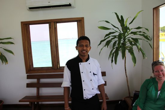 Adaaran Prestige Water Villas: The Chef!  He is AWESOME