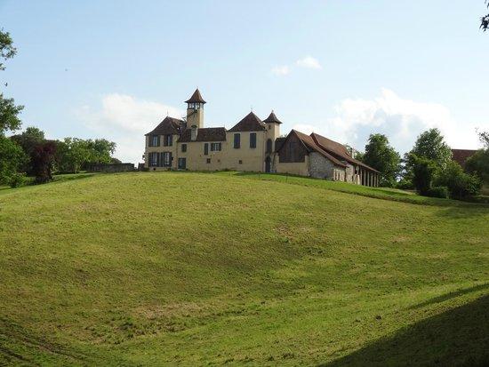 Chateau de Baylac : l'arrivée au château
