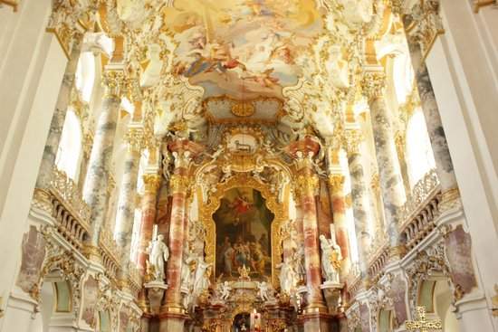 European Castles Tours: Wieskirche church interior