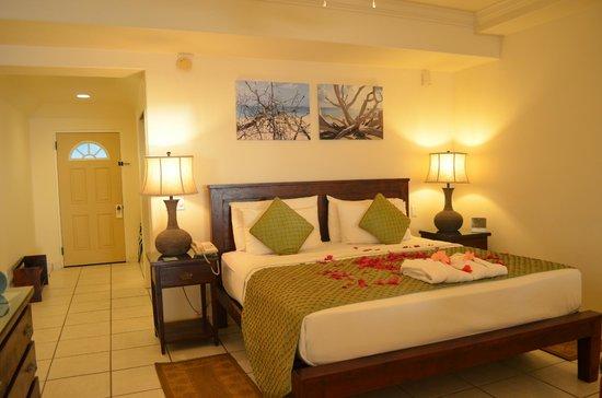 Galley Bay Resort : Bed Upon Arrival in Premium Beachfront Suite