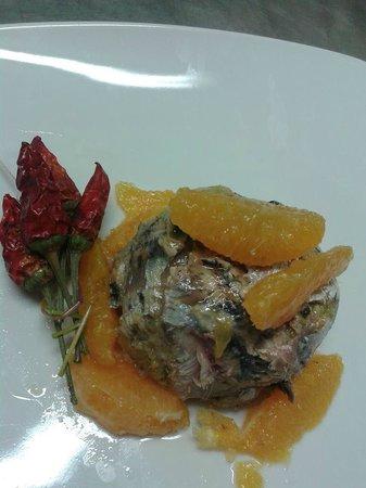 I Gerani: tortino di sardine con arance