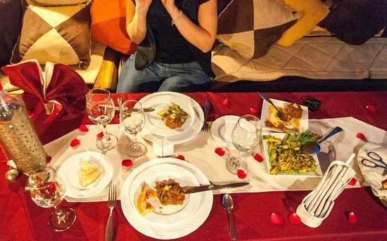 Riad Anabel: dinner on the roof terrace