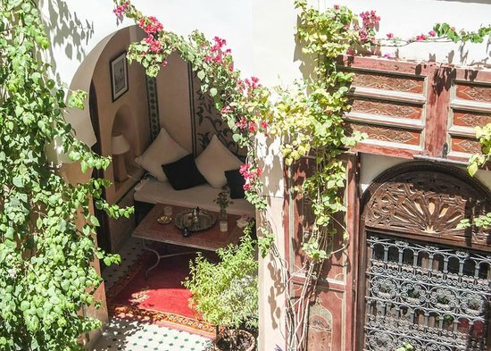 Riad Anabel: Quiet area in the courtyard