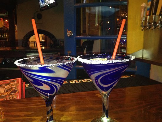 Fred's Mexican Cafe: Fancy margarita glasses