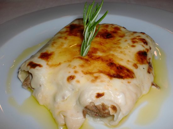 Hotel Manantial: Canelones de carn d'olla con cremoso de foie
