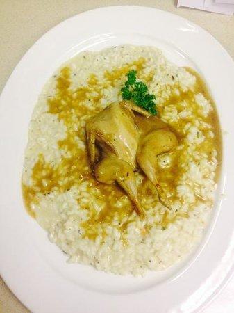 """il Tartufo Ristorante: Italian style risotto with quail and white wine """"prosecco Grassi""""......the best rice"""