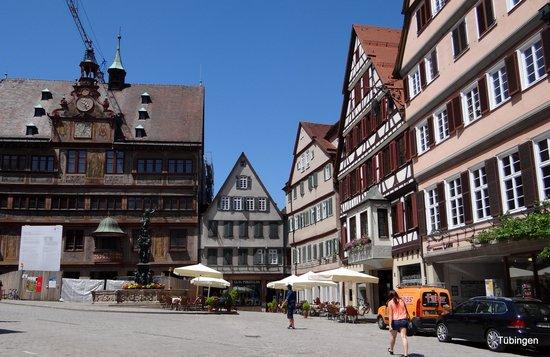 Hotel Hospiz Tubingen : Marktplatz  ligger lige op til hotellet