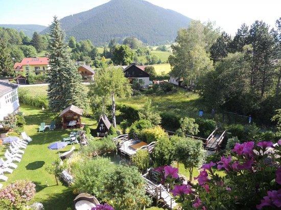 Kneipp-Kurhotel-Schonheitsfarm: Aussicht Richtung Norden, in den Garten