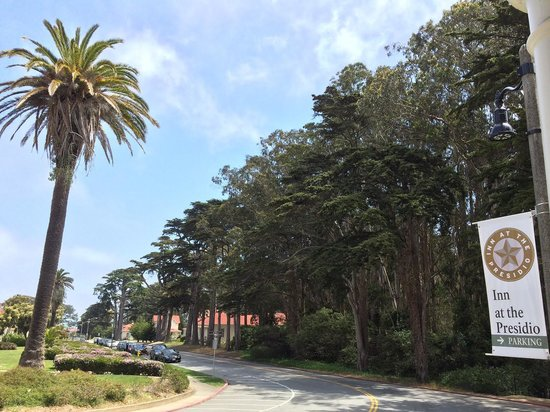 Inn at the Presidio: View from the Inn's front porch