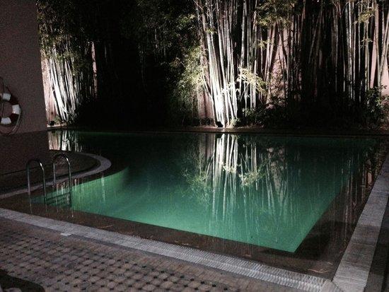 Meriem Hotel: Piscine la nuit