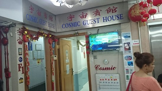 Cosmic Guest House Hong Kong : In front of hostel
