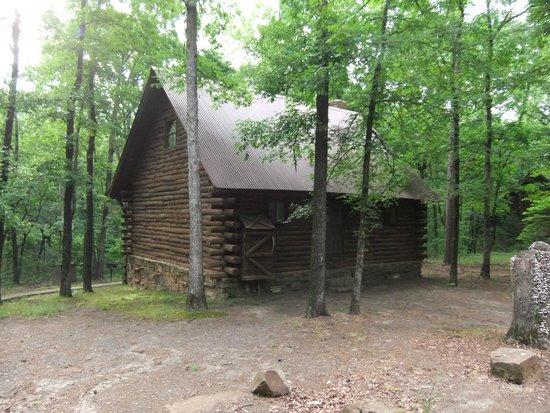 Tanyard Springs Cabins: Back of cabin