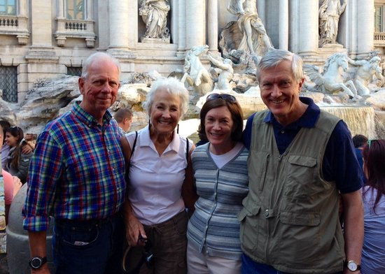 Divine Rome - Rome Tours: Coughllins/Schmidts at Trevi Fountain