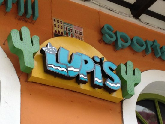 Lupi's: Sign out front