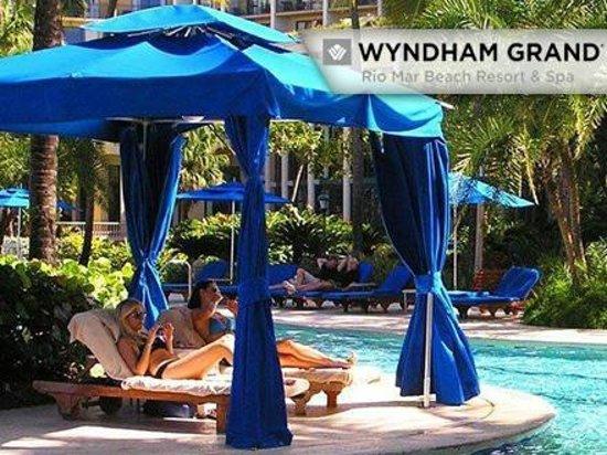 Wyndham Grand Rio Mar Puerto Rico Golf Beach Resort Pool Cabana