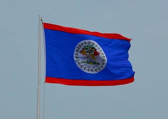 Charlie's Cave Tubing Tours: The Belizean Flag at the port