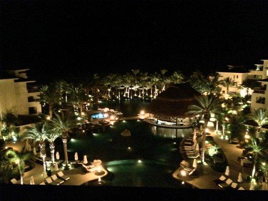 Cabo Azul Resort: view from top floor terrace corridor building 2