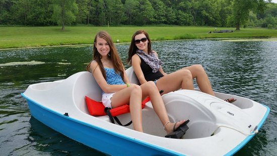 Peppertree at Tamarack HOA: Paddleboating on the pond by Peppertree at Tamarack