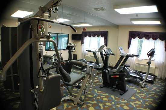 Quality Inn & Suites: fitness with dumbell and equipments