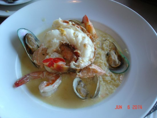 Ports O'Call Waterfront Dining: Seafood saute ($29).  Tasty but too salty.